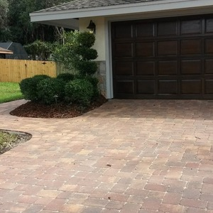 Cambridge Style Paver Driveway and Walkways in Harvest Blend 3 Piece Pattern