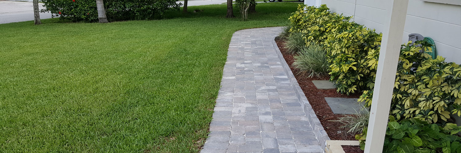 Paver walkway in Melbourne, FL